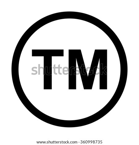 Trademark Symbol Icon. Classic icon. Vector illustration - stock vector