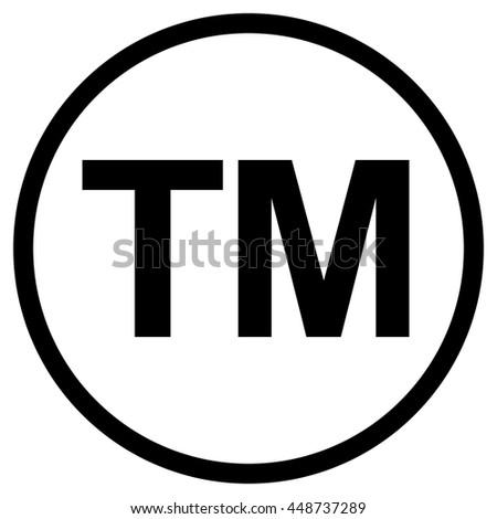 Trademark symbol , isolated black vector illustration - stock vector