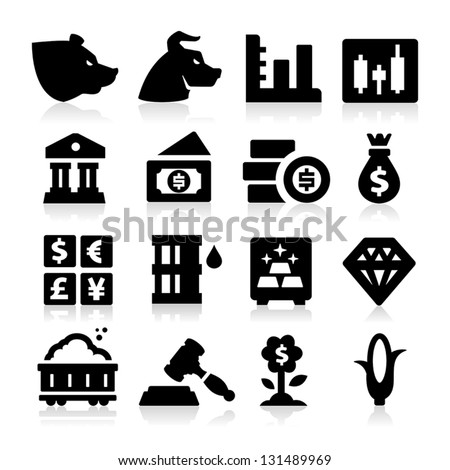 Trading Icons - stock vector