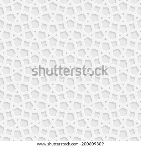Traditional arabic tangled lattice pattern. Seamless vector background. - stock vector