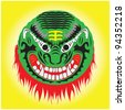 Traditional Chinese demon mask. - stock vector