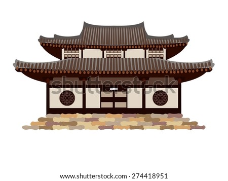 traditional chinese house stock vector 274418951