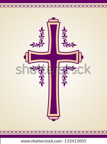 Traditional Christian Cross - stock vector