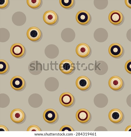 Traditional Czech pies vector background