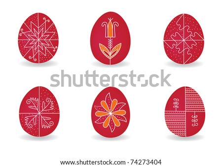 Traditional egg set - stock vector