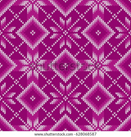 Traditional Fair Isle Knitted Pattern Vector Stock Vector ...