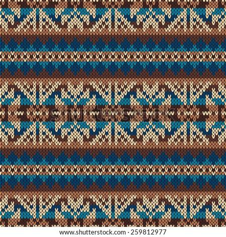 Traditional Fair Isle Pattern Seamless Knitting Stock Vector ...