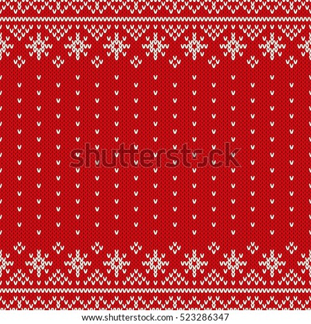 Traditional Fair Isle Style Seamless Knitted Stock Vector ...