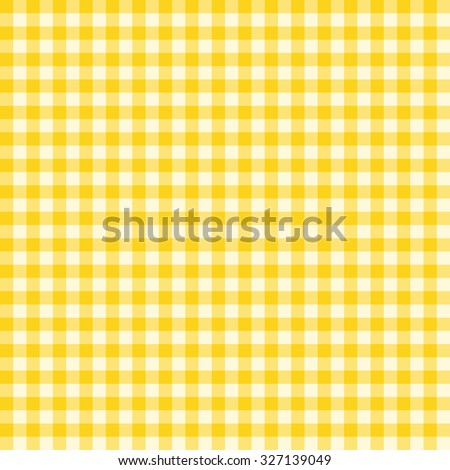 Traditional Gingham pattern in yellow color. Seamless checkered vector pattern. Abstract geometric background. - stock vector