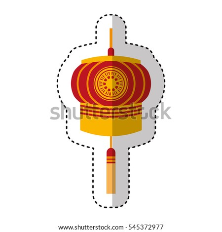 Traditional Japanese Lamp Icon Vector Illustration Design