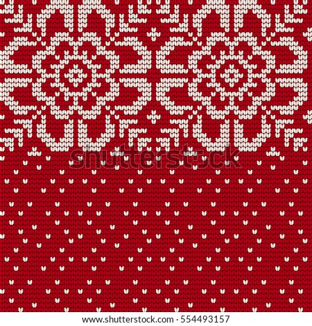 Traditional Knitting Pattern Ugly Sweater Vector Stock Vector