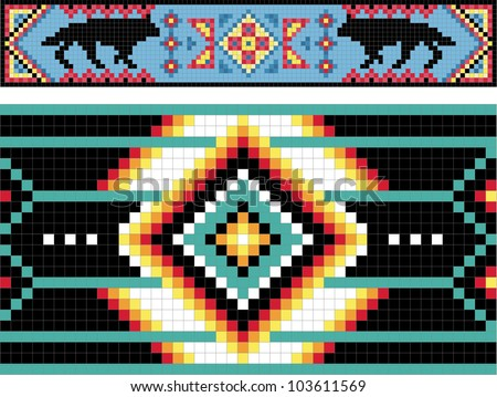 Traditional Native American patterns, vector