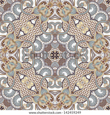 Traditional ornamental floral paisley bandanna. Ornament seamless background . You can use this pattern in the design of carpet, shawl, pillow, cushion - stock vector