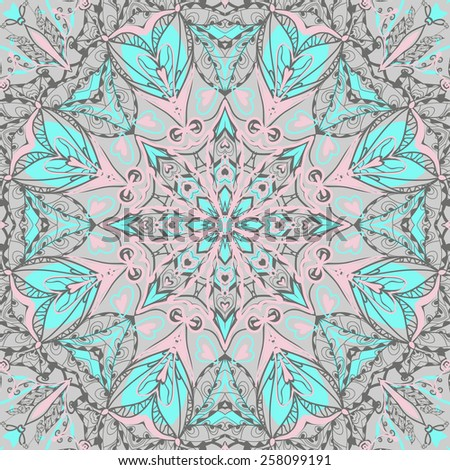 Traditional ornamental paisley bandanna. Hand drawn background with artistic pattern.  Seamless pattern can be used for wallpaper, fills, background. - stock vector