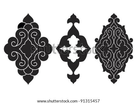 Traditional Ottoman motifs vector illustration - stock vector