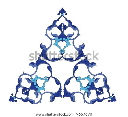 Traditional ottoman Turkey tile design - stock vector