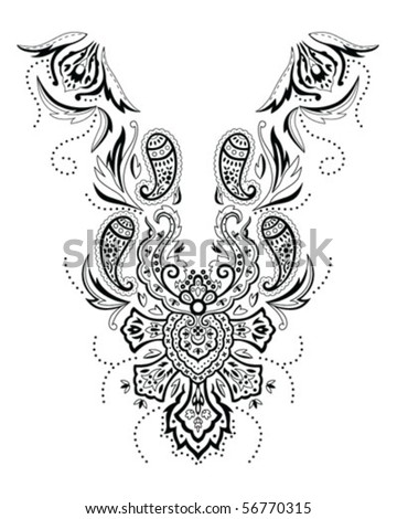 Traditional paisley design - stock vector