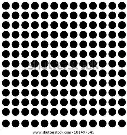 Traditional Polka Dot Pattern - Seamless - stock vector