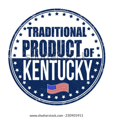 Traditional product of Kentucky grunge rubber stamp on white background, vector illustration - stock vector