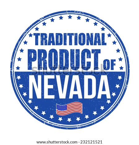 Traditional product of Nevada grunge rubber stamp on white background, vector illustration - stock vector