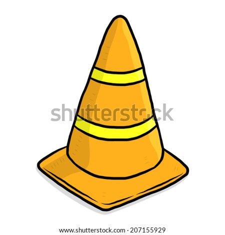 Traffic Cone Cartoon traffic cone / cartoon vector and illustration, hand drawn style ...