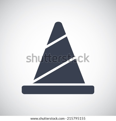 Traffic cone symbol icon. Simple flat metro style. Vector pictogram save for esp10 - stock vector