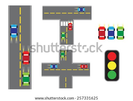 Traffic congestion on roads. - stock vector