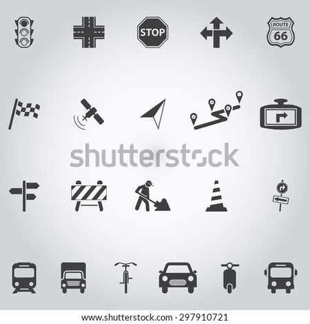 Traffic icons - stock vector