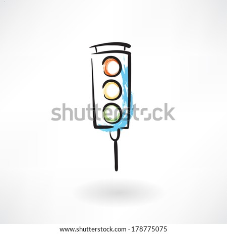 traffic light grunge icon