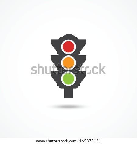 Traffic light icon - stock vector