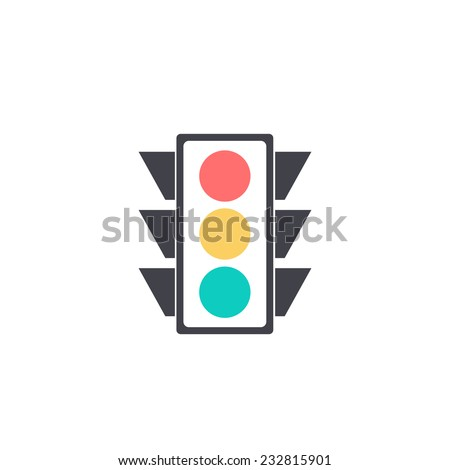 icon lighting. traffic light icon lighting