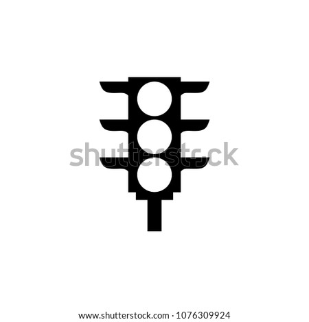 Traffic Light Icon Element Road Signs Stock Vector 1076309924
