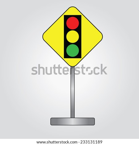 Traffic light icon vector,road traffic sign