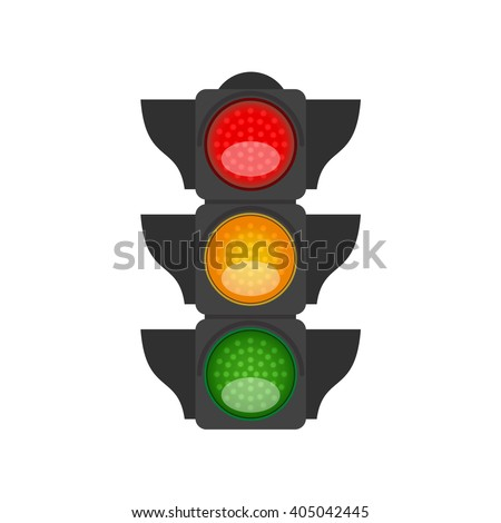 Traffic light isolated. Vector. - stock vector