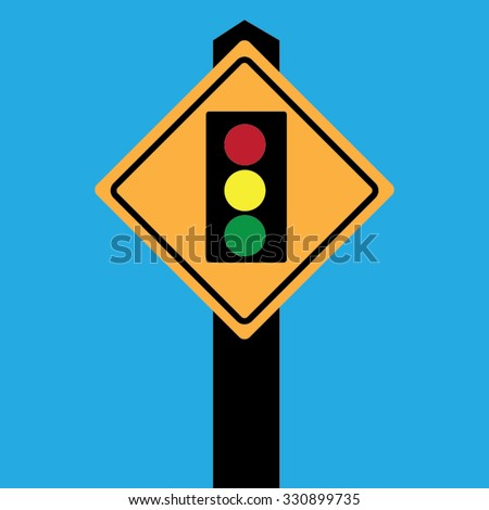 Traffic light sign board-vector
