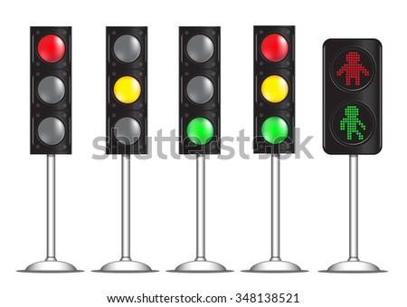 traffic light sign vector - stock vector