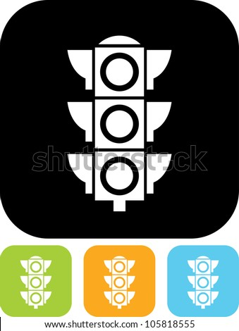 Traffic light signal - Vector icon isolated - stock vector