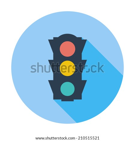 Traffic light. Single flat color icon. Vector illustration. - stock vector