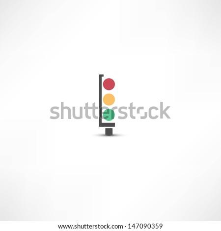 Traffic lights icon - stock vector