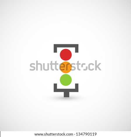 Traffic lights icon vector - stock vector