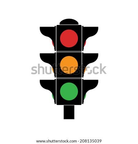 Traffic lights icon - Vector - stock vector