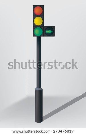 Traffic lights - the symbol of safety on the road,  - stock vector