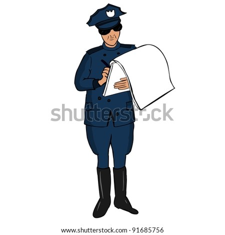 Traffic Police - stock vector