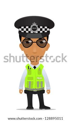 traffic police officer - stock vector