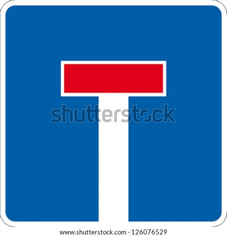 traffic sign dead end