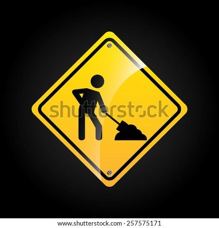 traffic sign design, vector illustration eps10 graphic  - stock vector