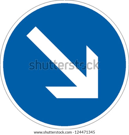 traffic sign direction of travel