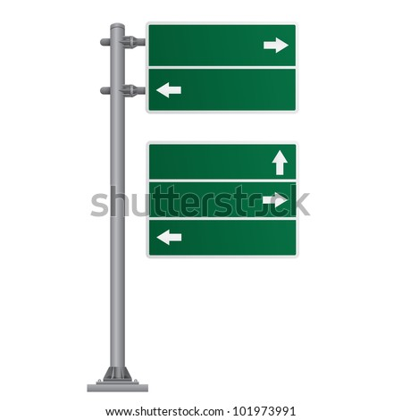 traffic sign green vector