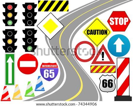 Traffic sign icon for web design, vector illustration - stock vector