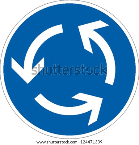 traffic sign roundabout traffic